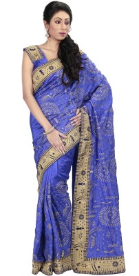 Ambition Embriodered Bollywood Silk Sari