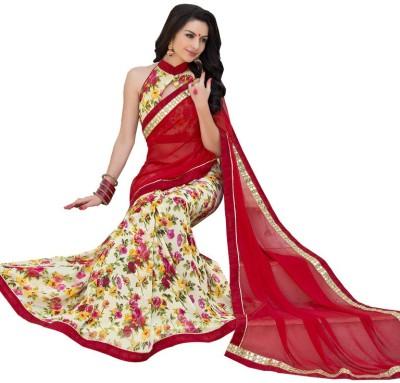 Vastrangsarees Floral Print Fashion Georgette Sari