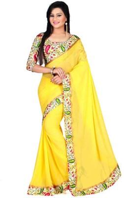 ambey shree trendz Self Design Banarasi Synthetic Sari