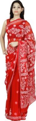 Aasmara Embriodered Lucknow Chikankari Georgette Sari