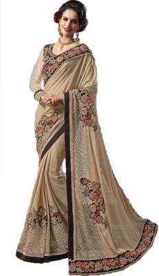 Rajhans Fashion Embriodered Fashion Brasso Sari