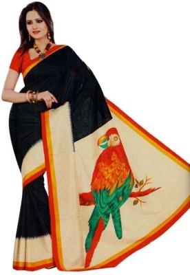 Sarovar Sarees Self Design, Geometric Print, Striped, Printed Fashion Art Silk Sari
