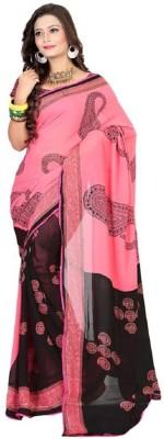 EthnicBasket Printed Fashion Georgette Sari