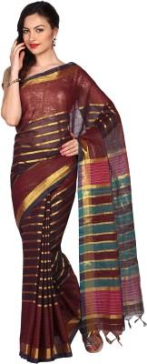 Parchayee Striped Daily Wear Cotton Sari