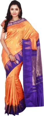 Indian Silks Self Design Kanjivaram Pure Silk Sari