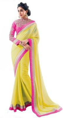 SanjuFashion Self Design Fashion Chiffon Sari