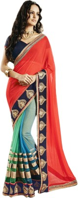 Giriraj Fashion Embriodered Fashion Georgette, Net Sari