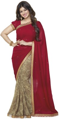 Khodiyar Creation Embriodered Fashion Georgette Sari