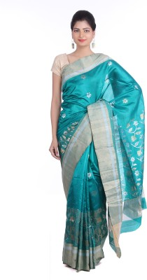 Indian Artizans Woven Chanderi Pure Silk Sari