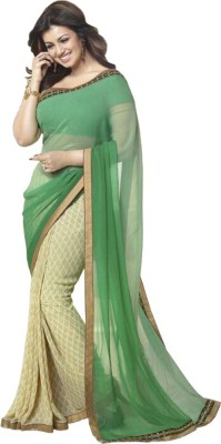 Shree Sanskruti Self Design Bollywood Georgette Sari