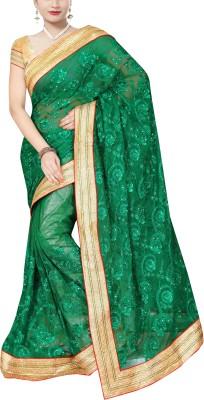 Awesome Self Design Fashion Net Sari