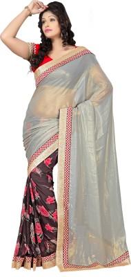 Shoppingover Self Design Fashion Chiffon Sari