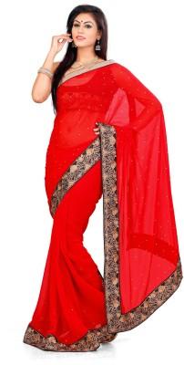 Indian Saree Self Design Bollywood Chiffon Sari