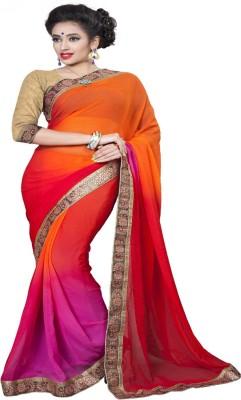 Mahakali art Solid Bollywood Chiffon Sari