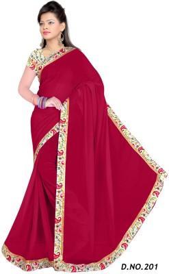 Shreebhole Plain Bollywood Chiffon Sari