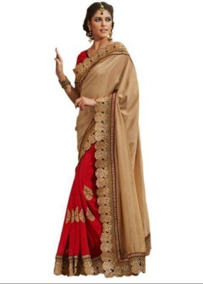 Yogi Creation Embriodered Bollywood Georgette Sari