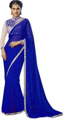 Shivanifashion Solid Bollywood Georgette Sari