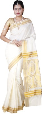 Farico Self Design Fashion Handloom Cotton Sari