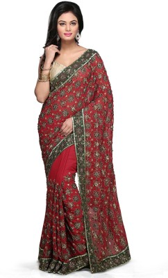Bay & Blue Embriodered Fashion Handloom Georgette Sari