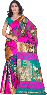 Nanda Silk Mills Self Design Banarasi Art Silk Sari