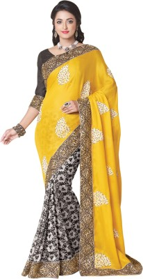 Shop Plaza Embriodered, Plain Daily Wear Satin, Chiffon Sari