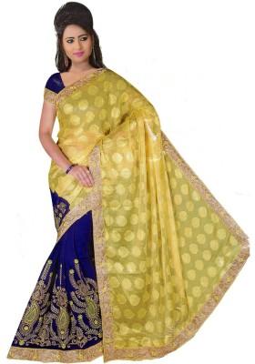 yugkala Self Design Fashion Art Silk Sari