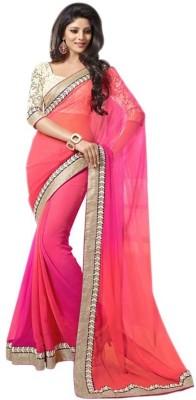 Crishna Enterprises Self Design Bollywood Georgette Sari