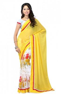 Indian Pahnaav Embellished Bollywood Handloom Pure Georgette Sari