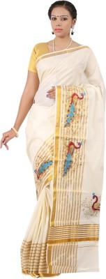 APR Brand Embriodered Balarampuram Handloom Cotton Sari