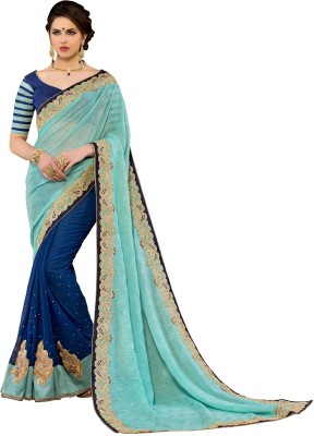 Jasleen Fashion Embellished, Embriodered Fashion Georgette, Lace, Brocade, Art Silk Sari