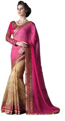 Mert India Embriodered Fashion Chiffon Sari