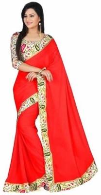 Sangeetasarees Plain Daily Wear Chiffon Sari