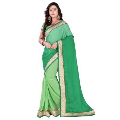 Go Traditional Printed Fashion Satin Sari