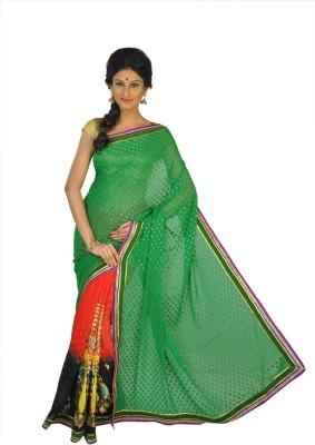 Abacus Embriodered Bollywood Handloom Georgette Sari