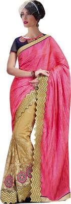 Go Traditional Embriodered Fashion Net Sari