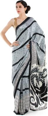 Bazzzar Graphic Print Fashion Satin Sari