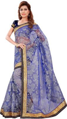 Chandra Silk Mills Embriodered Fashion Net Sari
