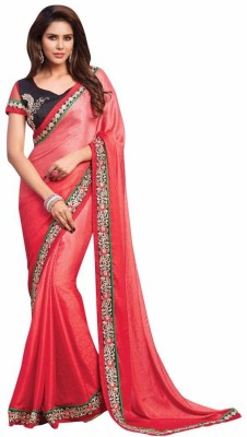 Mukta Mishree Exports Embriodered Fashion Crepe, Jacquard Sari