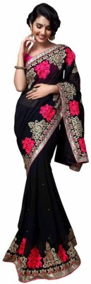 Kintu Designs Pvt. Ltd. Embriodered Fashion Georgette Sari