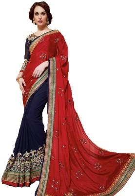 Ethnic Point Embriodered Fashion Net Sari