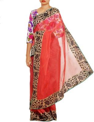Unnati Silks Solid Banarasi Net Sari