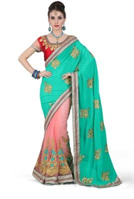 Lolla Fashion Embriodered, Embellished Bollywood Georgette, Net Sari