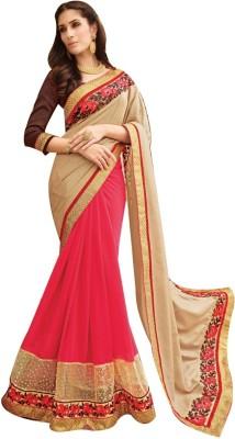 Shop Avenue Embellished Fashion Georgette, Brasso Sari