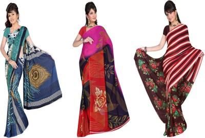 Kia Fashions Printed Daily Wear Georgette Sari