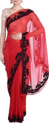 REME Embriodered Fashion Chiffon Sari