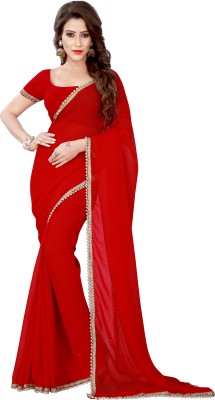 Chandra Silk Mills Self Design Fashion Chiffon Sari