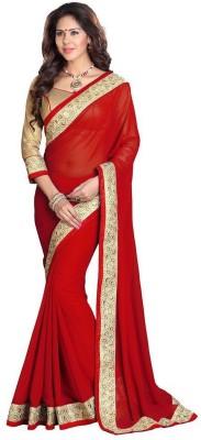 Anerra Plain Fashion Georgette Sari