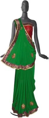 Serwans Plain Fashion Crepe Sari