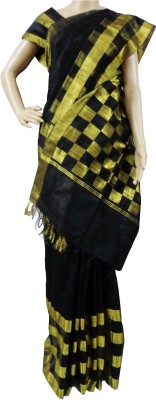 Mosanta De Boutique Solid, Striped Fashion Silk Sari