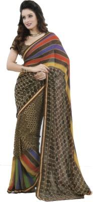 Shilpkar Striped Bollywood Chiffon Sari